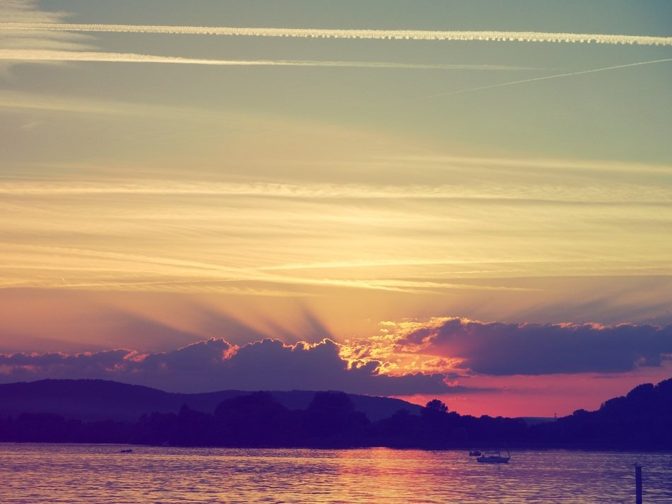 Sunset, Lake Constance
