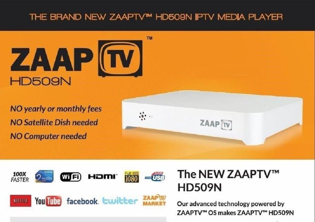 ZaapTV HD509N Full HD 1080 WebTV Player for Arabic, Turkish