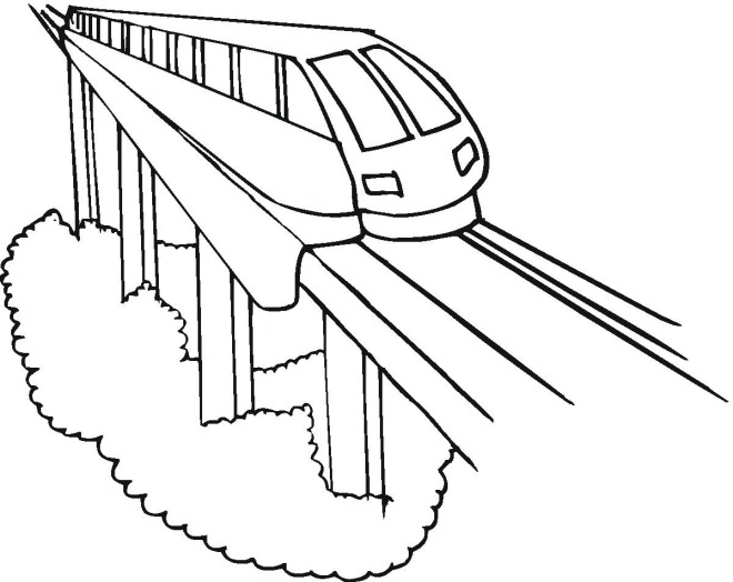 Train Coloring Pages Free Image