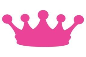 painted pink royal crown