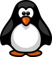 Black and white cute penguin clipart