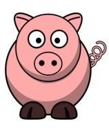 picture of a pink pig