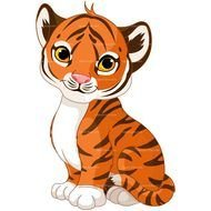 cute Baby Tiger Drawing