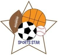 clipart with balls on a white star