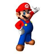 Colorful Mario figure clipart