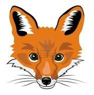 Cartoon Fox Head clipart