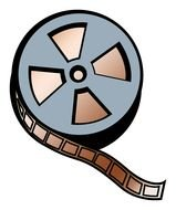 Movie Film Reel drawing