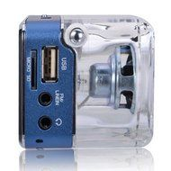 Portable Mini Music MP3/4 Player Micro SD/TF USB Disk Speaker Amplifier FM Radio(Green/Rose/Blue/Silver/Black/... N4