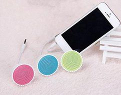 Lovely Cake Shape Mini Portable Speaker Cover For iPhone Smartphone Color Green N3
