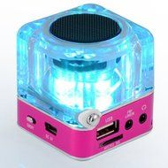 Portable Mini Music MP3/4 Player Micro SD/TF USB Disk Speaker Amplifier FM Radio(Green/Rose/Blue/Silver/Black/... N8