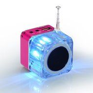 Portable Mini Music MP3/4 Player Micro SD/TF USB Disk Speaker Amplifier FM Radio(Green/Rose/Blue/Silver/Black/... N9