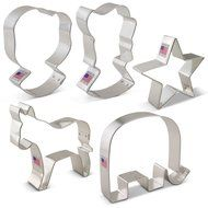 Election Cookie Cutter Set - 5 Piece - Hillary Clinton, Donald Trump, Democratic Donkey, Republican GOP Elephant...
