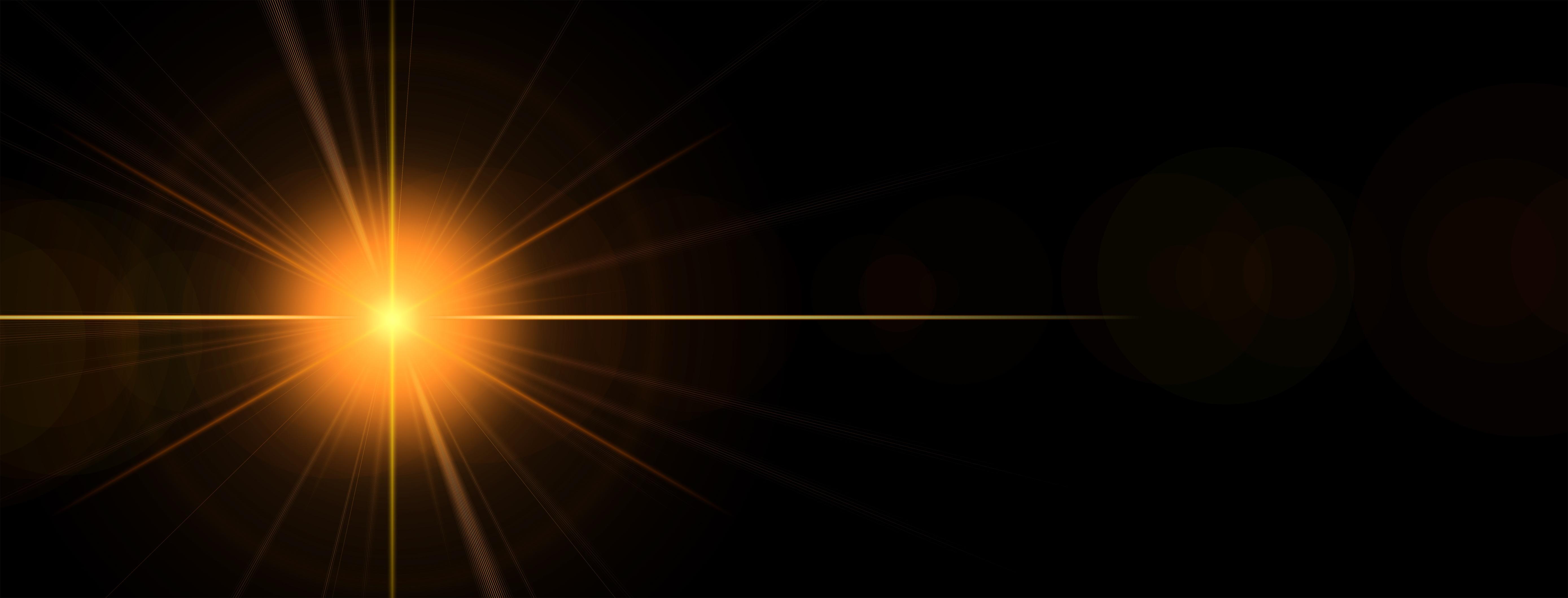 Flash Of Light On Dark Background Free Image