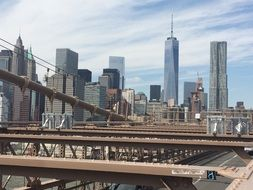 Brooklyn Bridge and architecture of the Manhattan