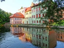 bydgoszcz venice brda river white and rose houses