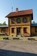 old wooden railway station