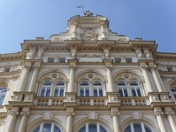 palace facade in teplice