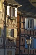 frame buildings in the old town in Colmar