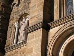 St. Benedict on the facade of the church