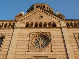 facade of the cathedral in Speyer