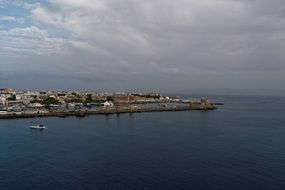 harbour entrance in rhodes