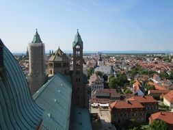 steeples and roof of the Cathedral of Speyer