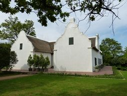 White winery building in south africa