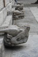 Carved stone on city walls in Shandong