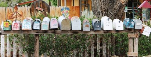 mailboxes madrid new mexico yard art