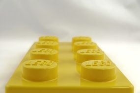 Closeup photo of Yellow lego blocks