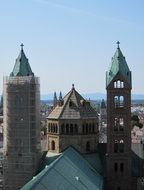 a top view of the cathedral in Speyer