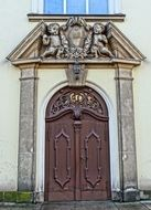 The door of the Church of the Sacred Heart