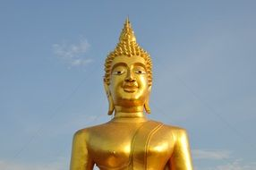 Buddha like a golden statue