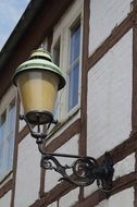 antique lamp of timber framed house