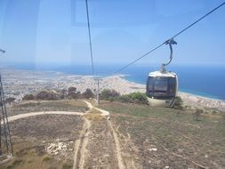 cable car in Sicily
