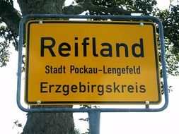 reifland as a road sign