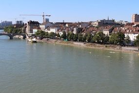 rhine river in the city