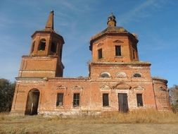 abandoned brick church
