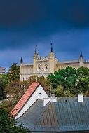 View of the roofs and spiers of Lublin, Poland