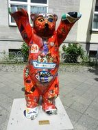 colorful teddy bear statue