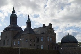 building of Kalmar castle in sweden