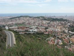 Highway on Mount Tibidabo