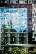 facade of a glass office building