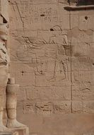 ancient walls of temple in luxor