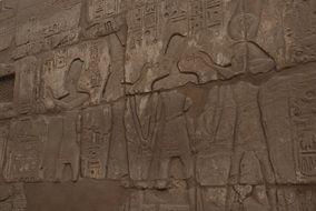 historical walls in Karnak