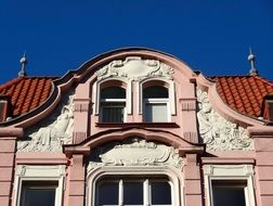building pediment windows pilasters roof spires architecture facade