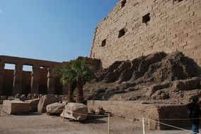 ancient ruins in Karnak