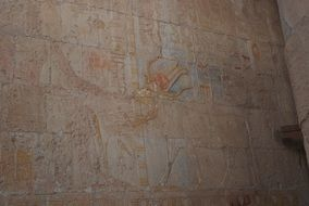 relief wall in temple of hatshepsut