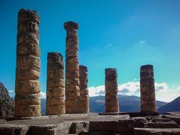 greece delfoi columns