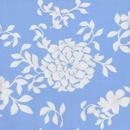 pattern flowers leaf blue